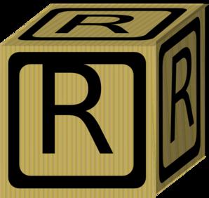 Letter Alphabet Block R Clip Art at Clker.com - vector ...