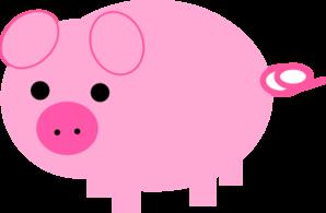 Pink pig clip art at clker vector clip art online royalty pink pig clip art voltagebd Image collections