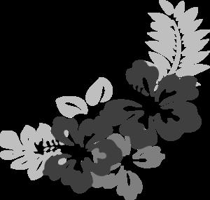 hawaiian hibiscus flower outline