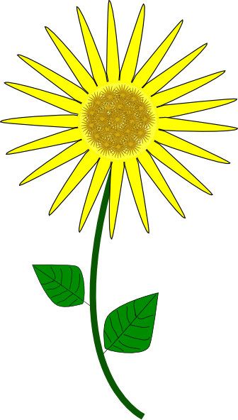 sunflower cartoon clip art at clkercom vector clip art