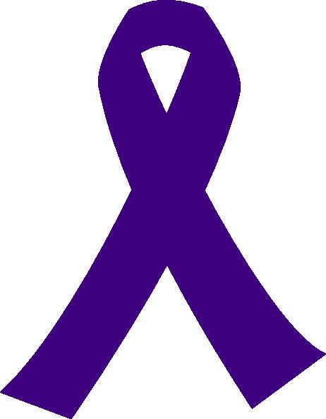 purple cancer ribbon clip art at clker com vector clip art online