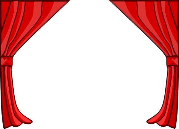 just red curtains clip art at clker com vector clip art online rh clker com curtain design clipart movie curtain clipart