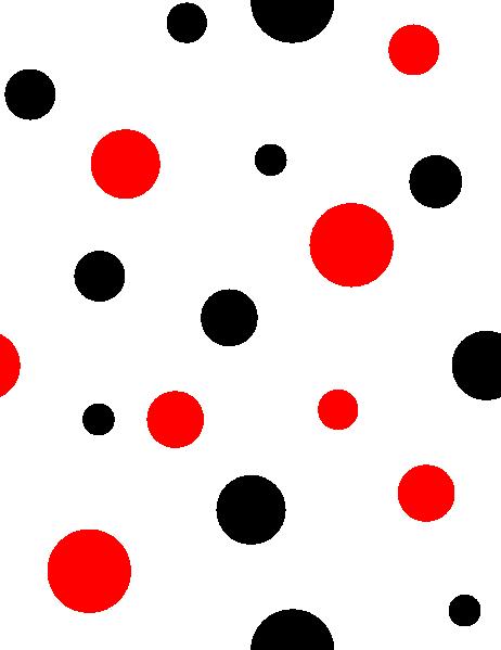 red and black polka dots clip art at clkercom vector