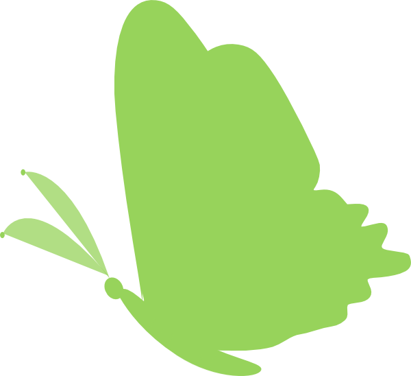 Green.butterfly Clip Art at Clker.com - vector clip art ...