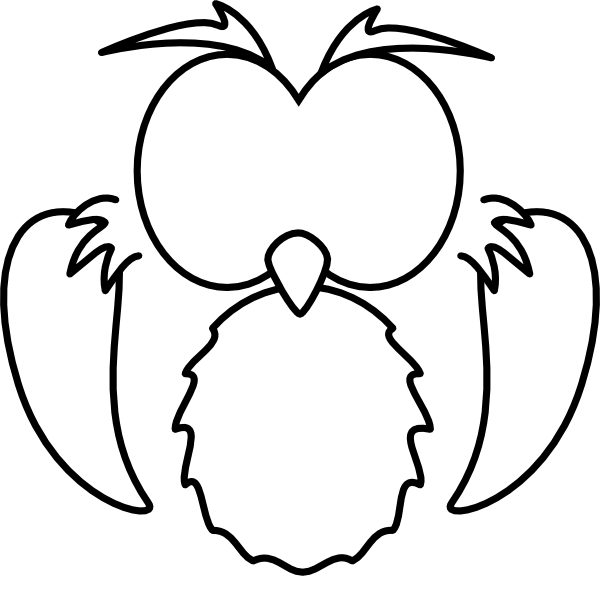 Black White Owl Clip Art at Clker.com - vector clip art ...