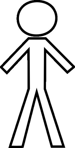 White Stick Figure Clip Art at Clker.com - vector clip art online ...