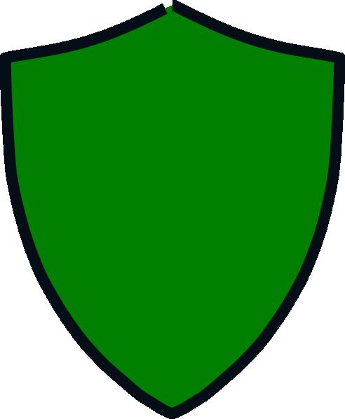 Green And Black Shield Clip Art At Clker Com Vector Clip