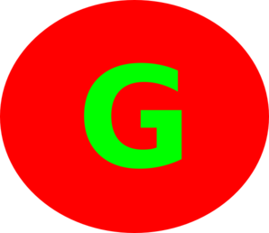 Letter G Red Circle Clip Art