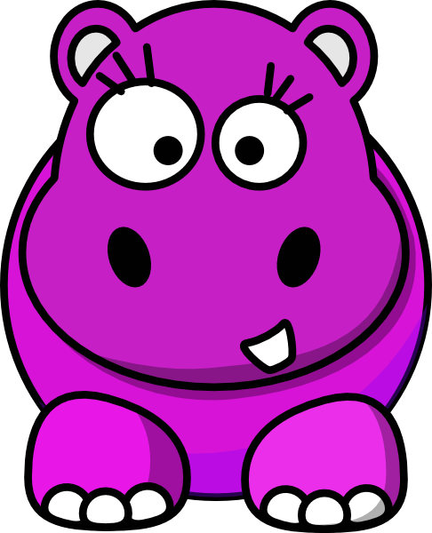 baby hippo clipart - photo #29