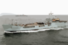 The Royal Fleet Auxiliary, Landing Ship Logistic Rfa Sir Galahad (l 3005) Underway In The Arabian Gulf Clip Art