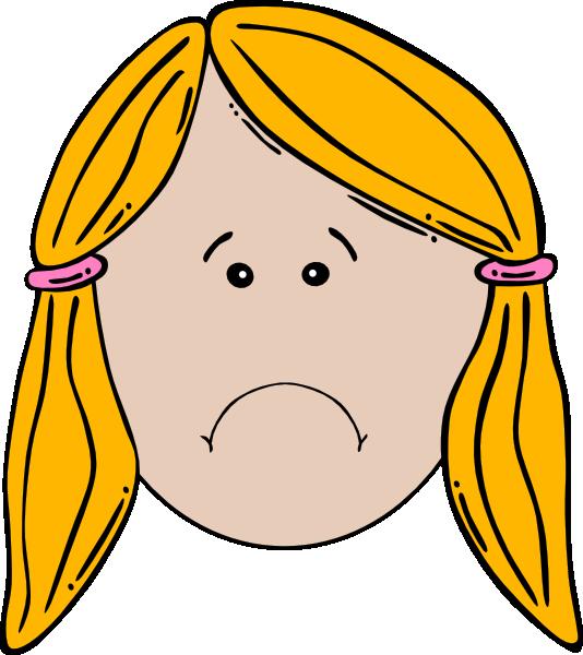 Lady Face (unhappy) Clip Art at Clker.com - vector clip ...