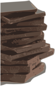 Chocolate Block Pieces Clip Art