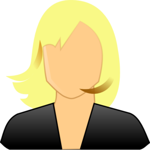 Blond Female User Clip Art