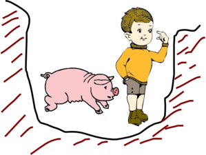 Boy In Pit With Pig Clip Art at Clker.com - vector clip ...