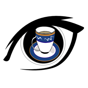 Tea Cup On Eye Clip Art