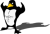 Muscular Penguin Clip Art