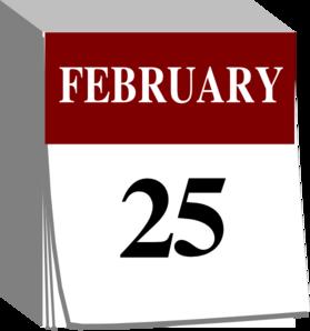 february 25 calendar clip art at clker com vector clip art online rh clker com february calendar clipart png