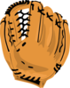 Baseball Glove Simple Clip Art