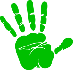 Green Handprint Clip Art