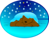 Asleep Under Stars 2 Clip Art