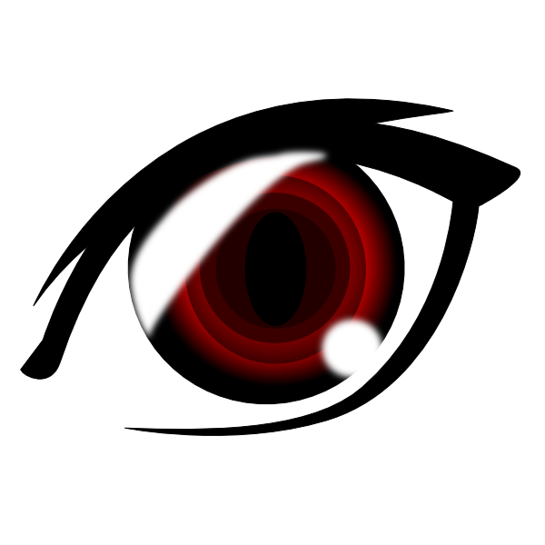 Vampire Anime Eye Clip Art at Clker.com - vector clip art ...