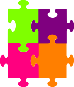 Jigsaw Puzzle 4 Pieces Clip Art