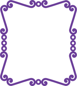 Scrolly Frame New Purple2 Clip Art
