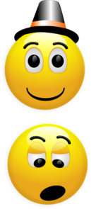 Smiley Hat Topper Clip Art