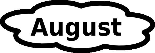 Clip Art Calendar August : August calendar sign clip art at clker vector