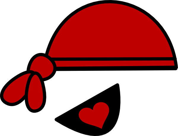 red pirate hat and heart eyepatch clip art at clker com vector rh clker com Cartoon Pirate Hat pirate hat vector free