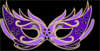Masquerade Mask Purple Clip Art
