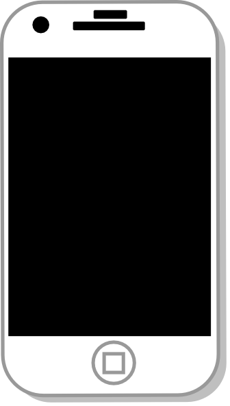 cell phone clipart black and white - photo #50