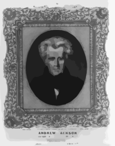 Andrew Jackson, 7th President Of The United States  / On Stone By A. Newsam ; P.s. Duval, Lith. Philada. Clip Art