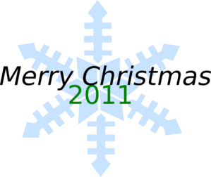 Merry Christmas Snowflake Clip Art