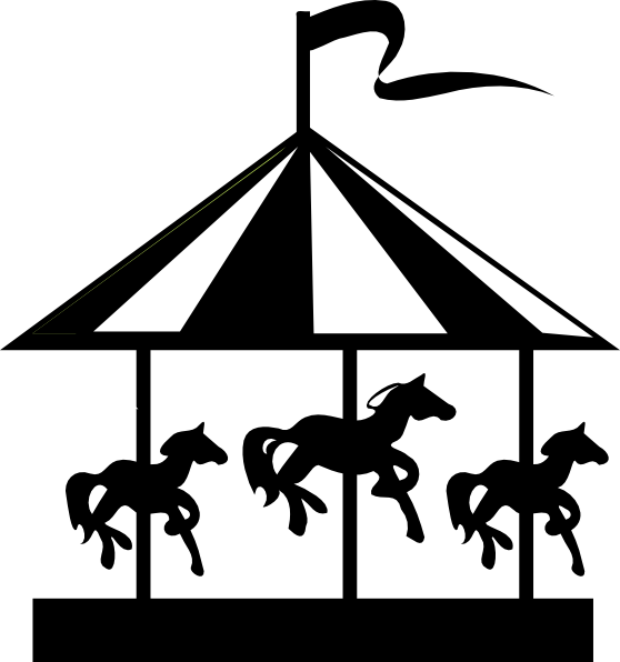 Carousel horse silhouette clip art - photo#17