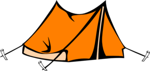 Orange Tent Clip Art