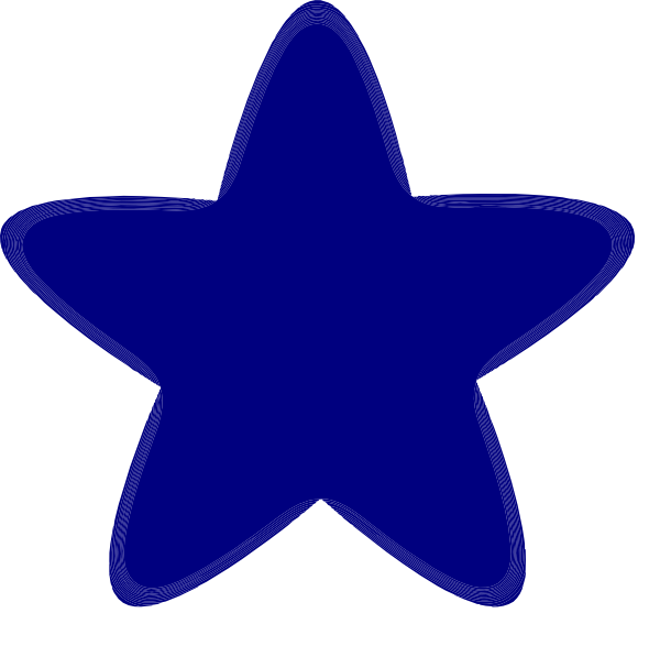 Rounded Star No Background Clip Art at Clker.com - vector ...