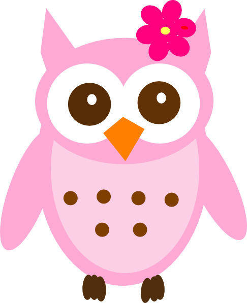 pink baby owl clip art at clker com vector clip art online rh clker com baby owl pictures clip art baby owl clipart black and white
