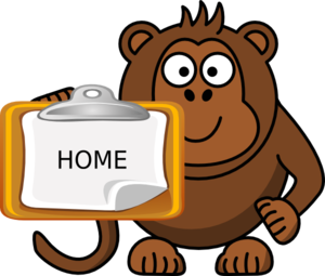 Monkey Notepad Clip Art