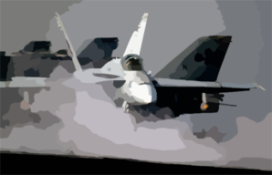 An F/a-18c Hornet Prepares To Launch From The Flight Deck Aboard Uss Abraham Lincoln (cvn 72). Clip Art