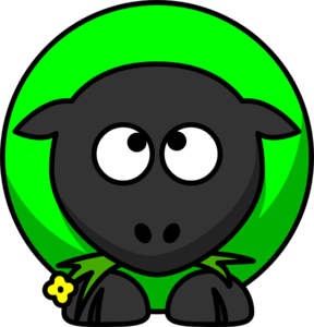 Sheep Looking Cross Eyed Up Clip Art