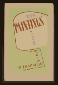 Wpa Paintings, Federal Art Gallery, 50 Beacon St., Boston Clip Art