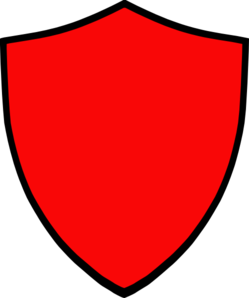 Shield-red Clip Art at Clker.com - vector clip art online ...