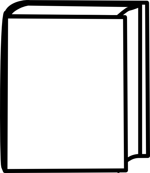 Black And White Book Cover : White closed book clip art at clker vector