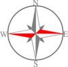 Red Grey Compass 1 Clip Art