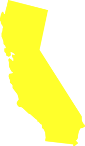 California state. Yellow clip art at
