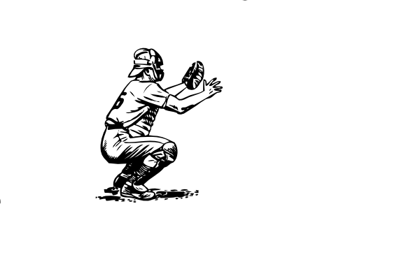 Catcher In Black White Clip Art At Clker Com Vector Clip