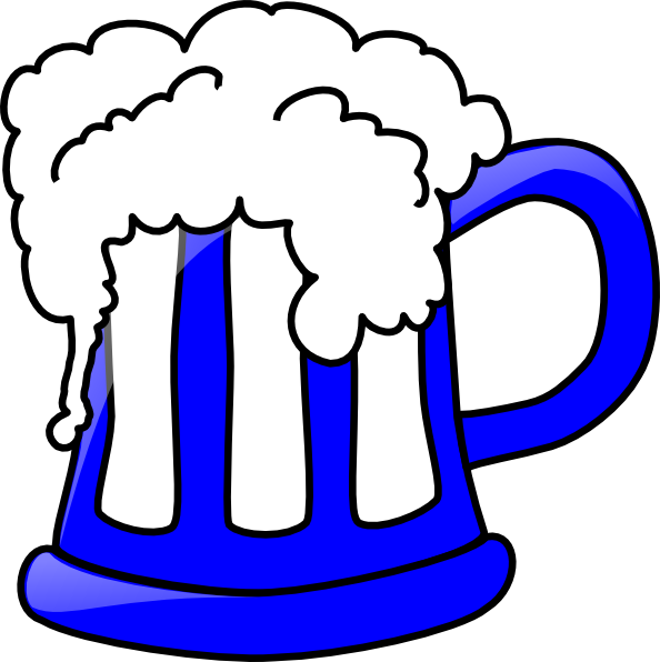 blue beer mug clip art at clker com vector clip art online rh clker com clipart beer glasses clip art beer mugs cheers