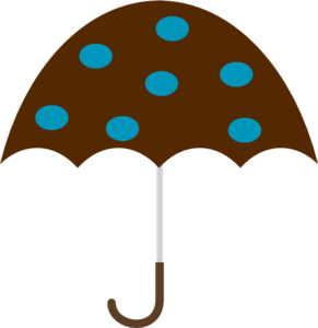 Polka Dot Umbrella Clip Art