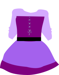 Purple Pirate Dress Clip Art